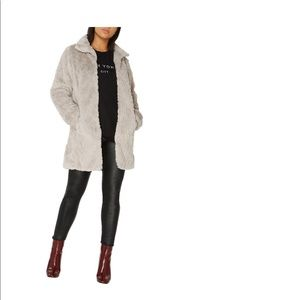 Faux fur coat from Nordstrom